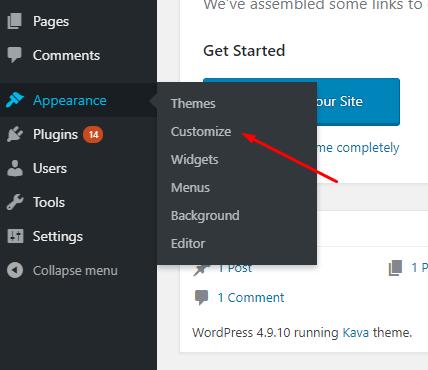 blog design customization