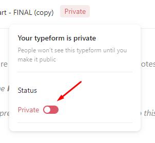 typeform private