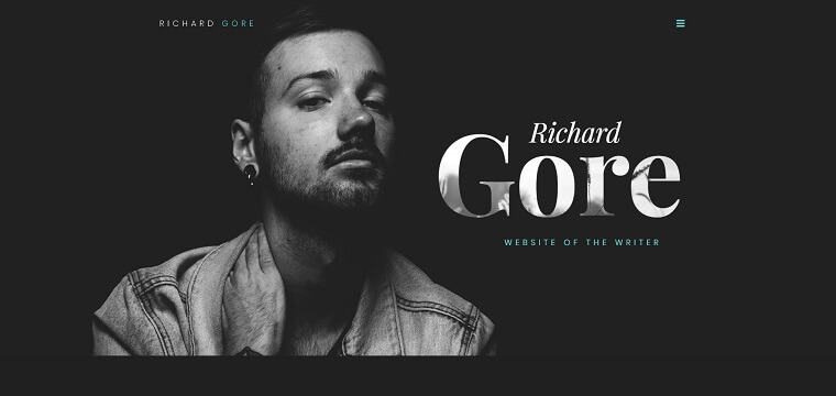 Richard Gore - Writer Portfolio Elementor WordPress Theme