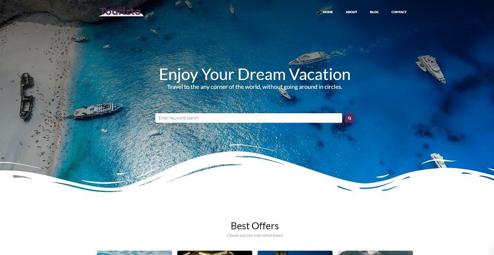 Tourizto lite - Travel Company Elementor WordPress Theme