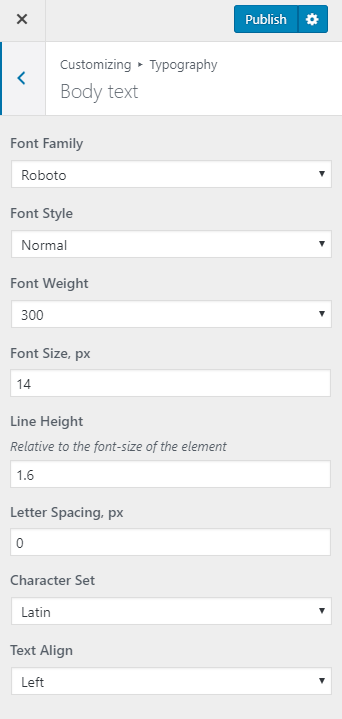 customize WordPress blog