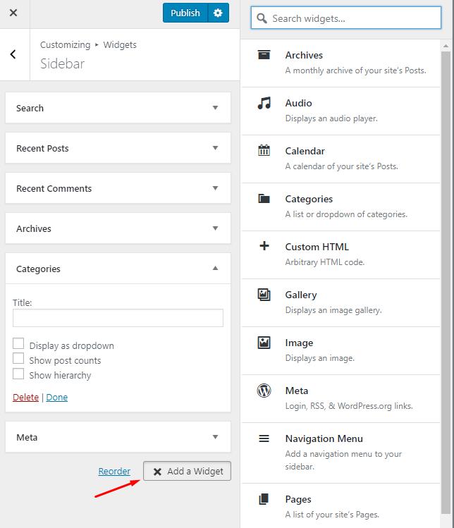 WordPress blog customization