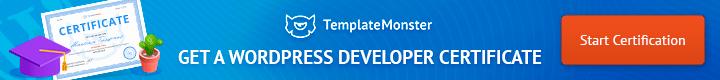 WordPress developer certificate