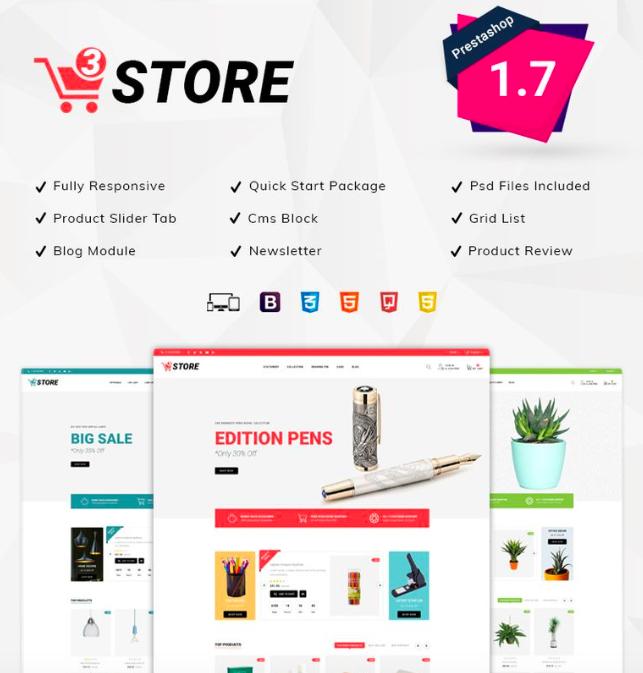3Store - Multipurpose PrestaShop Theme