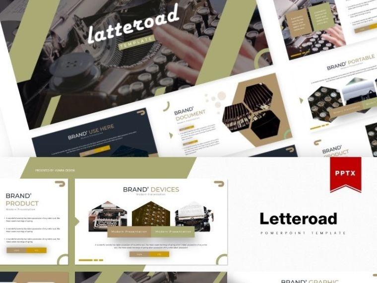 Letteroad powerpoint template