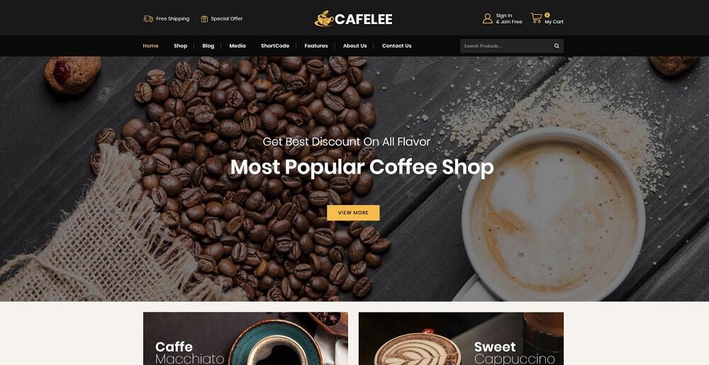 Cafelee - Food & Restaurant Store WooCommerce Theme