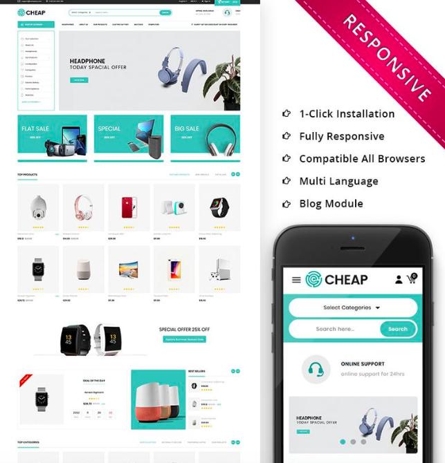 Cheap - Electronic PrestaShop Theme