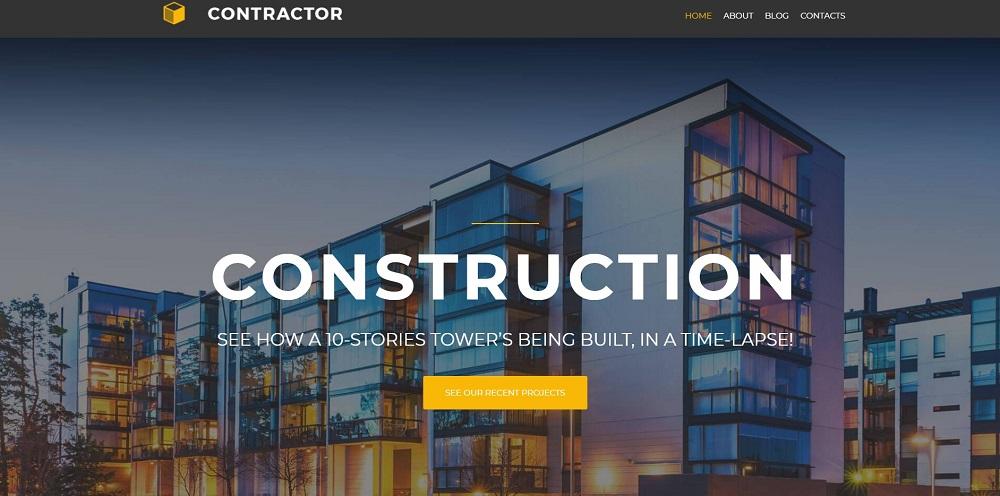 Construction Minimalistic Elementor WordPress Theme