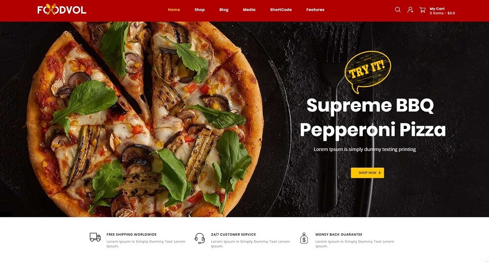 Foodvol - Restaurants Store WooCommerce Theme