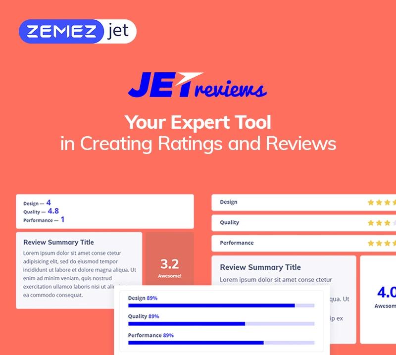 JetReviews - Reviews Widget for Elementor Page Builder WordPress Plugin