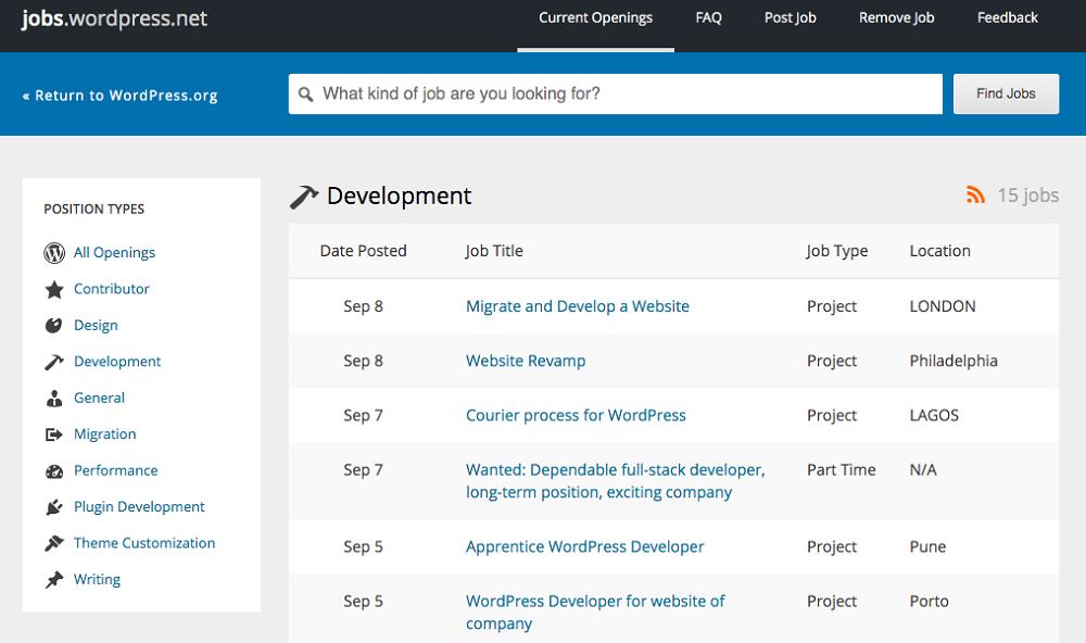 Jobs.WordPress.net