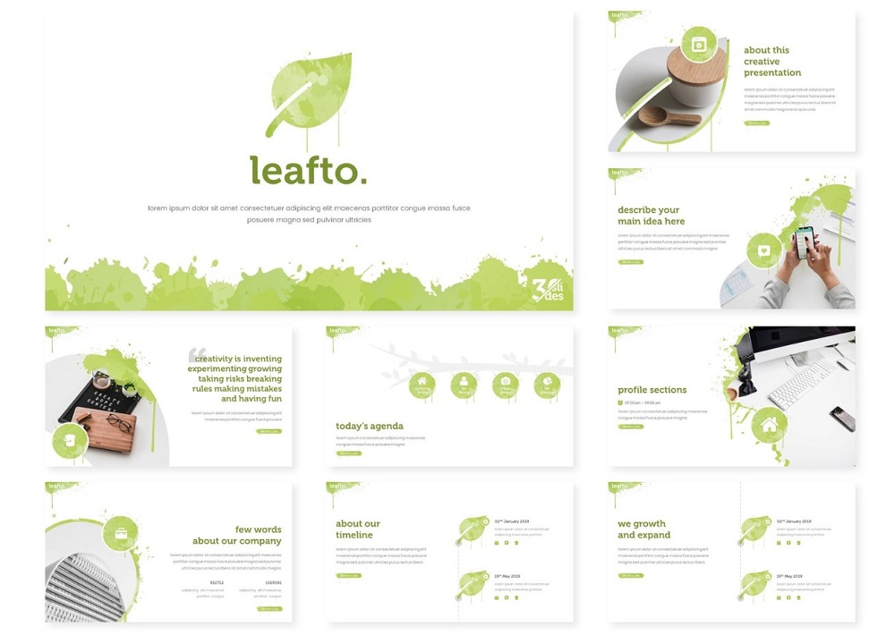 Leafto | PowerPoint Template