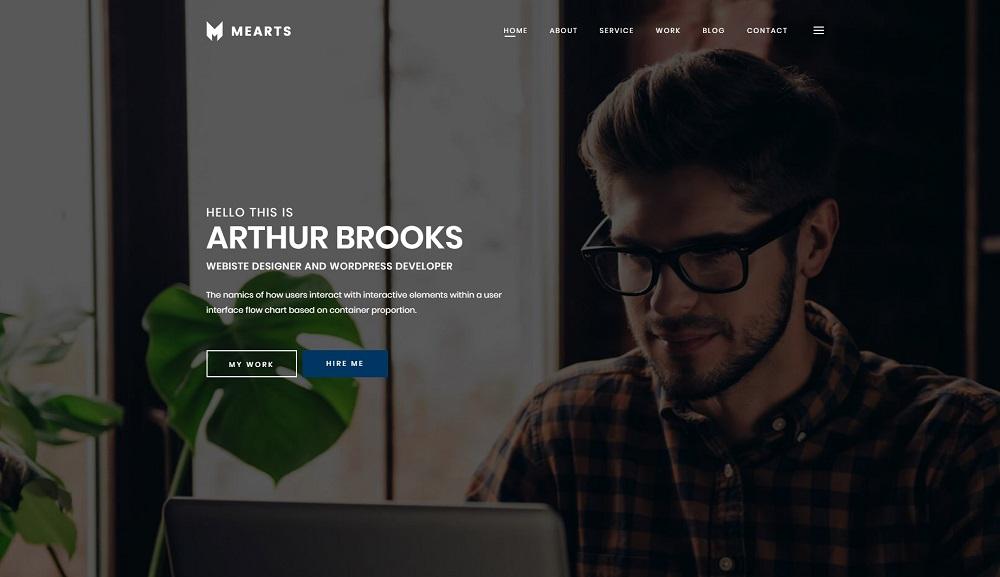 Mearts - Personal Portfolio WordPress Theme