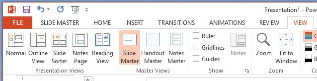 navigate to Slide Master