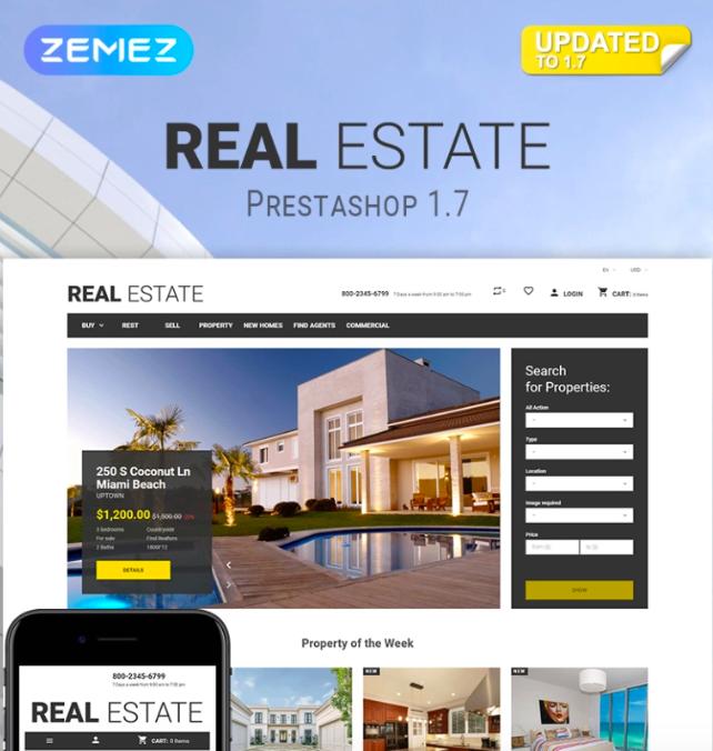 Real Estate Business PrestaShop Theme