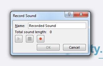 record sound