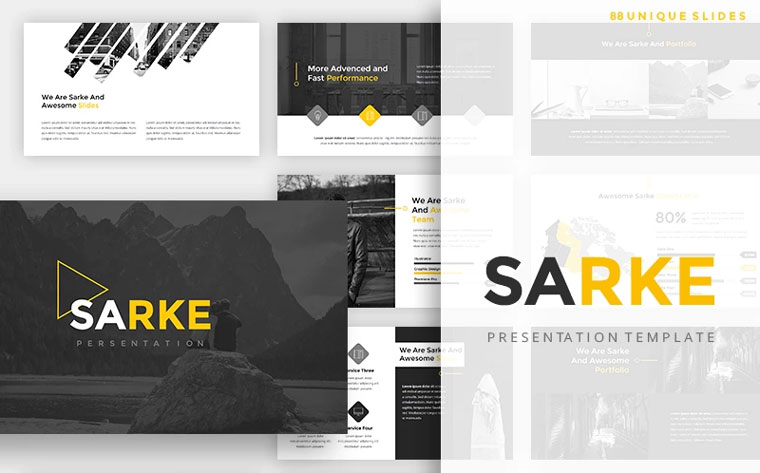 Sarke - Creative PowerPoint Template.
