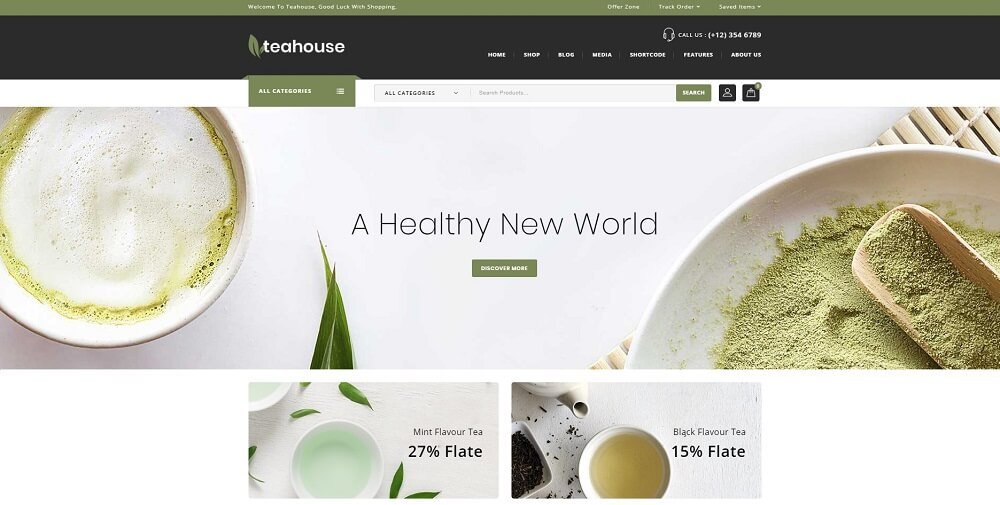 Teahouse - Multi Purpose Store WooCommerce Theme