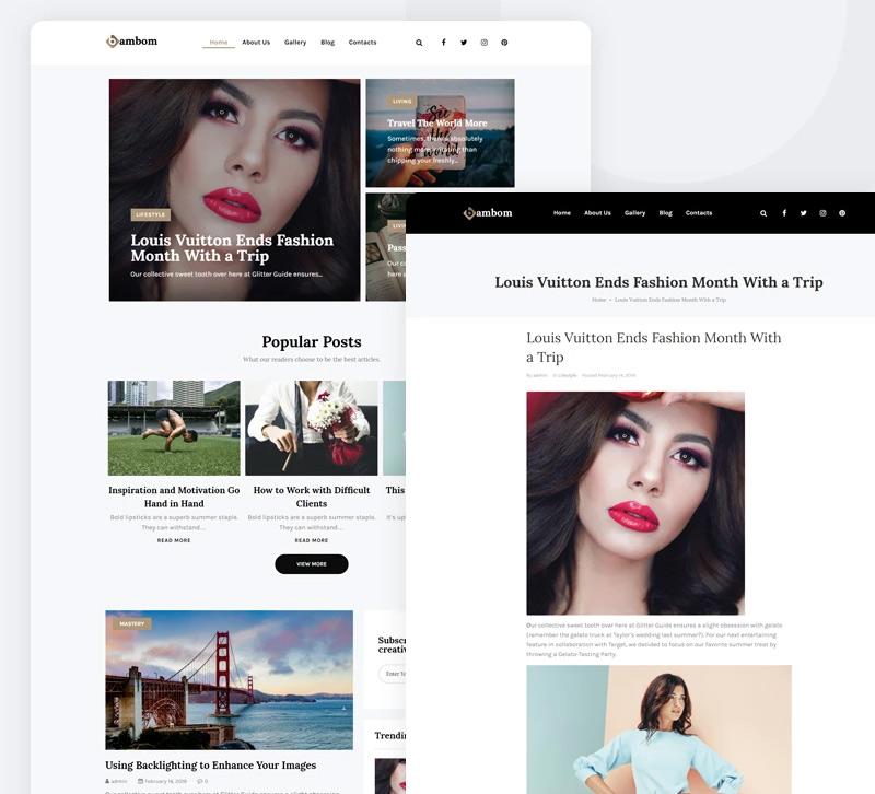 BamBom — Lifestyle Blog Multipurpose Minimal Elementor WordPress Theme