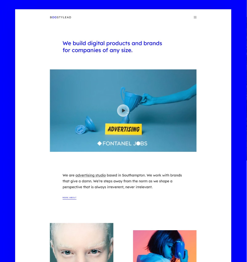 7. Boostylead - Marketing Agency Website Template with a Neat Design and Elementor WordPress Theme