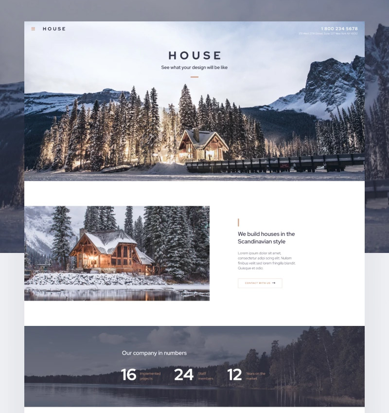 6. House - Modern And Minimalistic Construction Project Website WordPress Theme
