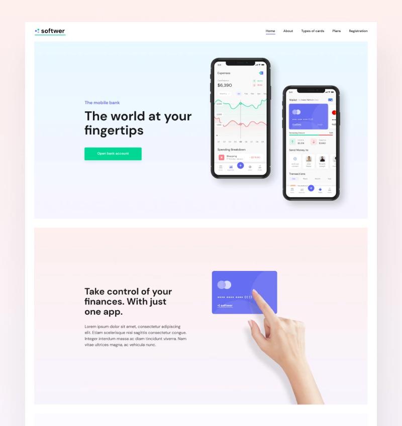 5. Softwer - Mobile App Development Company Website Template WordPress Theme