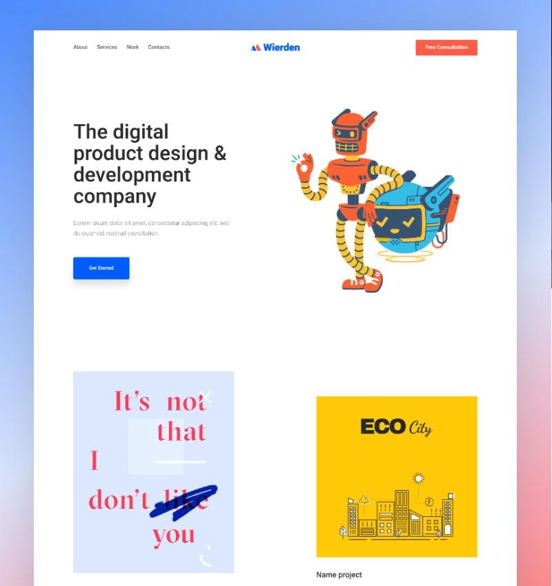 3. Wierden - Minimalistic And Modern Digital Product WordPress Theme