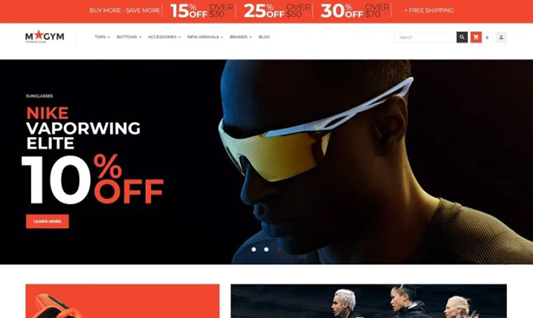 MyGym Sports Best Magento Template