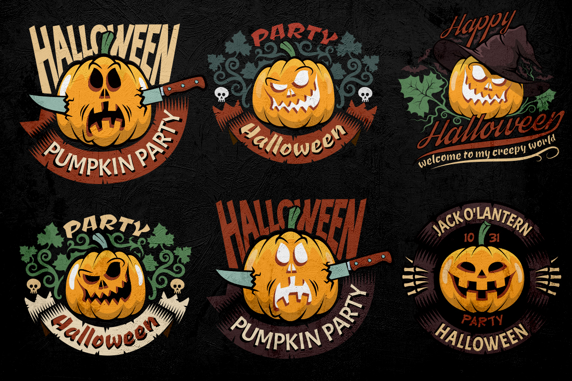 Halloween Logo Pack Illustration