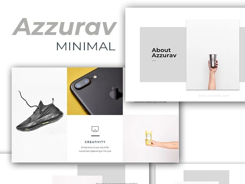 Azzurav Minimal PowerPoint Template