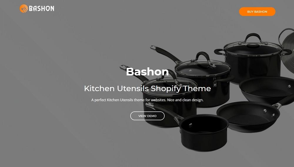 Bashon - Kitchen Utensils Shopify Theme