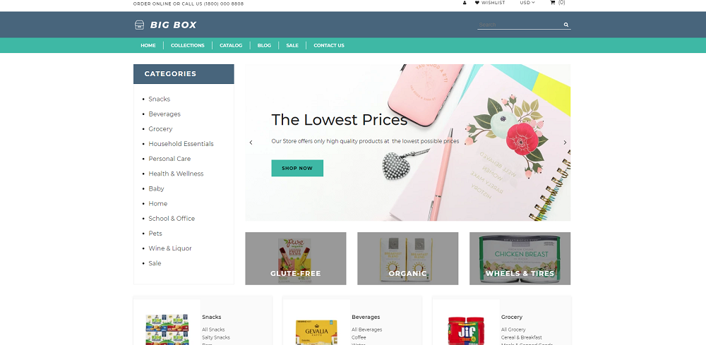Big Box - Wholesale Store Multipage Clean Shopify Theme