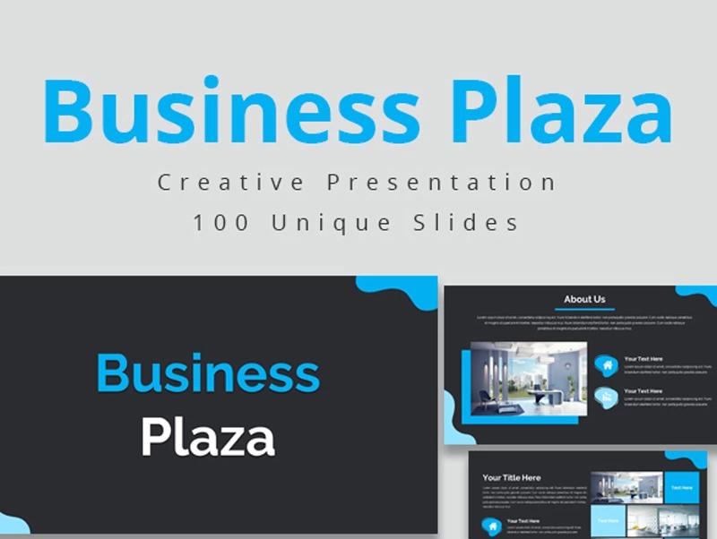 Business Plaza Google Slides