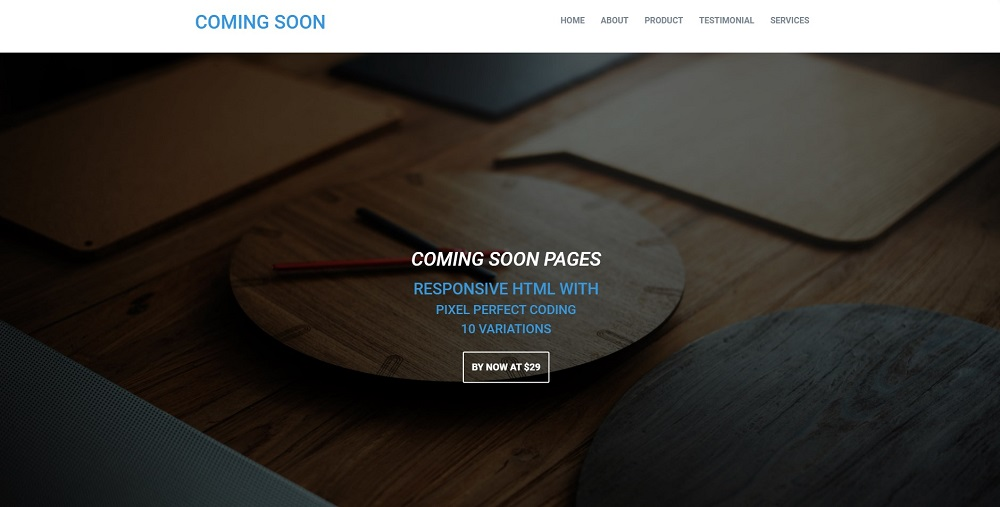 COSO - Coming Soon HTML Specialty Page