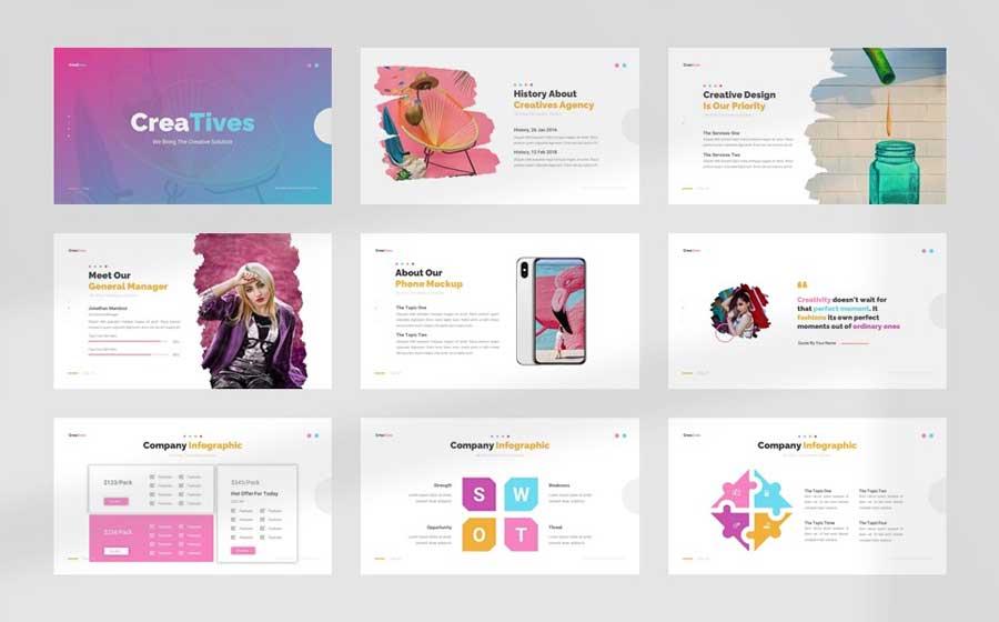 Free Creatives Creative Agency Google Slides