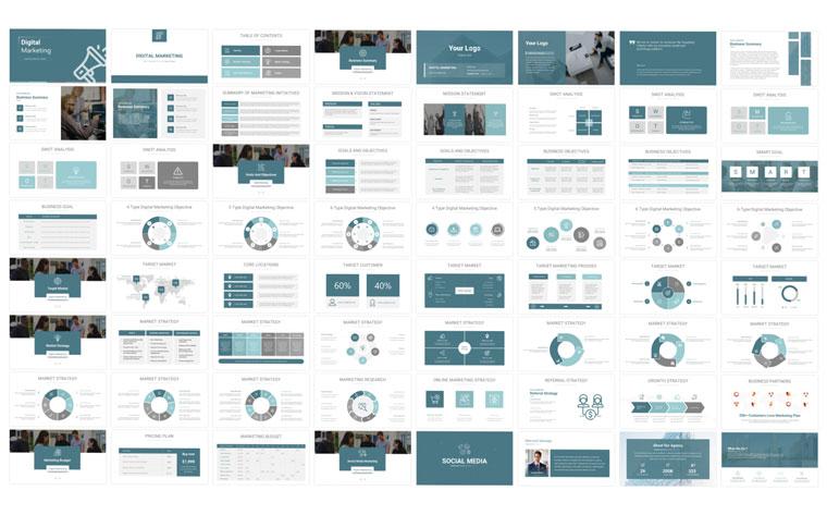 Digital Marketing Google Slides.