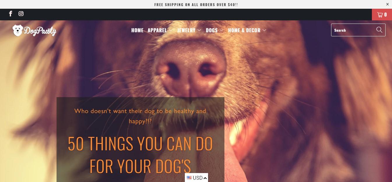 dogpawty website