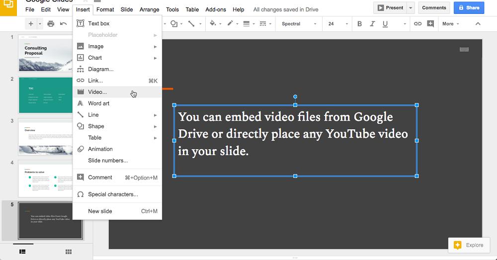 Embed Google Slides voice over
