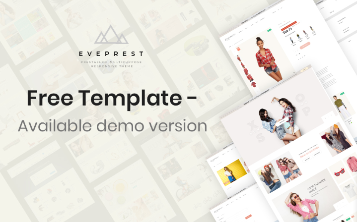 Eveprest - Free Clean Bootstrap Ecommerce PrestaShop Theme