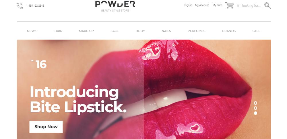Powder - Cosmetics Store Modern Free OpenCart Template