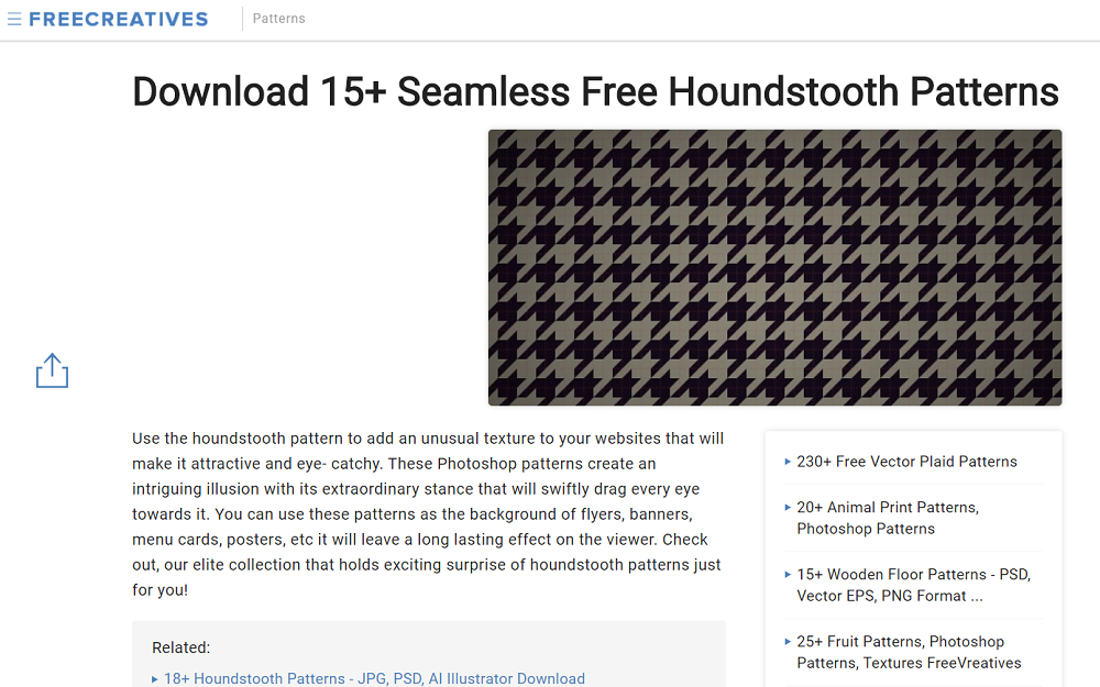 freecreatives houndstooth pattern