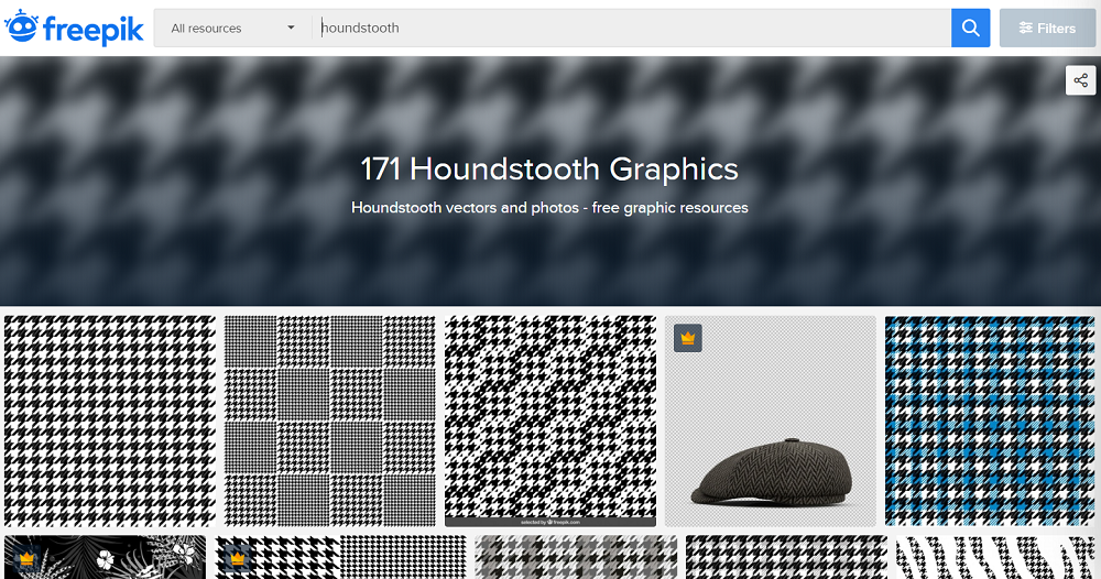 freepik houndstooth pattern