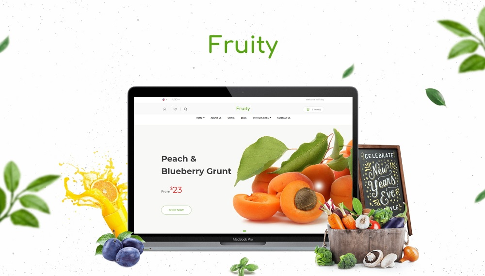 Fruity - Organic Food/Fruit/Vegetables Shopify Theme