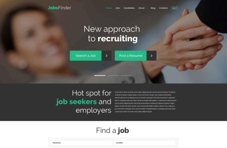 Job Portal Responsive WordPress Theme.