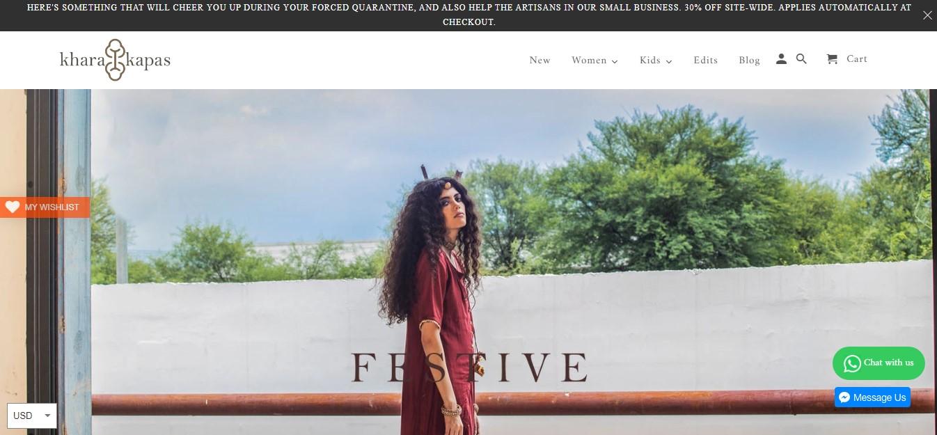 khara kapas website