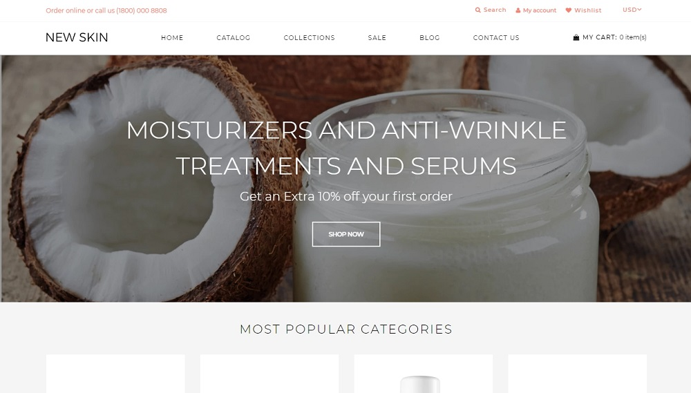 New Skin - Cosmetic Store eCommerce Clean Shopify Theme