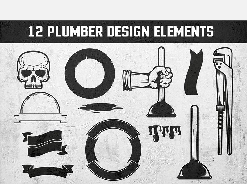 Plumbing Retro Emblem Illustration