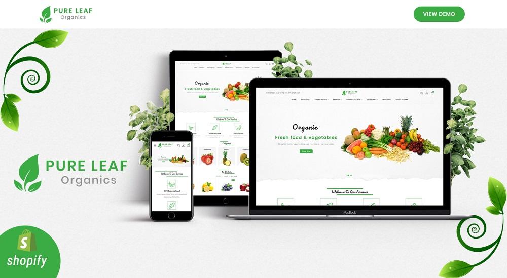 Pureleaf Organic Shopify Theme