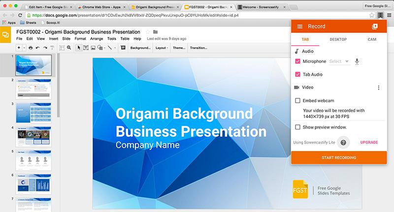 recording Google Slides pitch