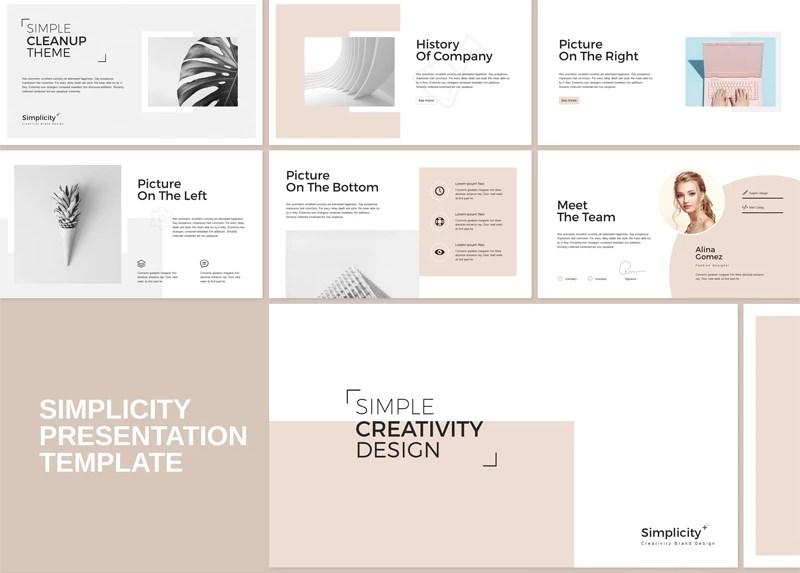 Simplicity - Stylist Presentation PowerPoint Template